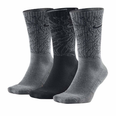jcpenney.com | Nike® Mens 3-pk. Dri-FIT Triple Fly Crew Socks - Big & Tall