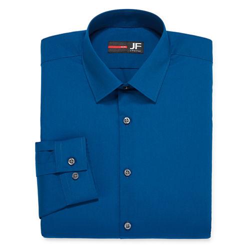 J.Ferrar Easy-Care Solid-Big & Tall Long Sleeve Dress Shirt
