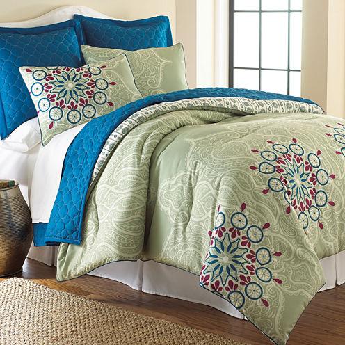 Pacific Coast Textiles Zarine 6-pc. Reversible Comforter Set