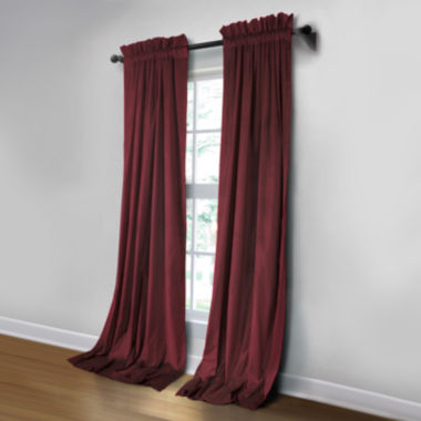jcpenney.com | JCPenney Home Made-To-Length Velvet Rod-Pocket Blackout Lined Curtain Panel