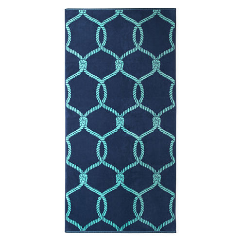 "Outdoor Oasis Nautical Rope 34""x68"" Jacquard Beach Towel"