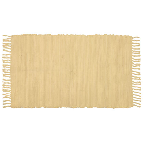 Agra Solid Washable Cotton Rectangular Rug