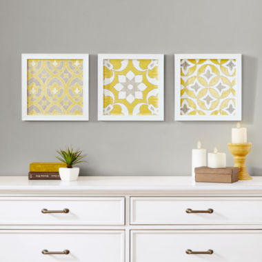 jcpenney.com | Madison Park Tuscan Tiles Roll Gel Coat Shadow Box 3-pc. Canvas Art