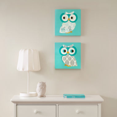 jcpenney.com | Mi Zone Hoot Hoot Mdf Box 2-pc. Canvas Art