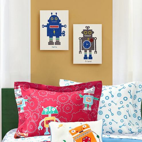 Mi Zone Mr  Robot And Friend 2-pc. Canvas Art