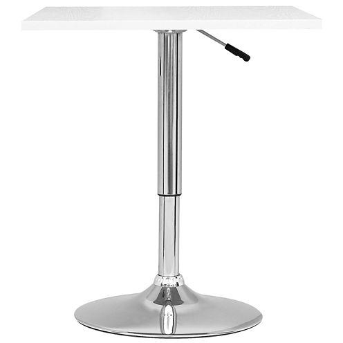 Adjustable Height Square Pub Table