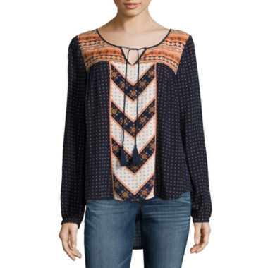 jcpenney.com | All @ Once Long Sleeve Printed Peasant Blouse