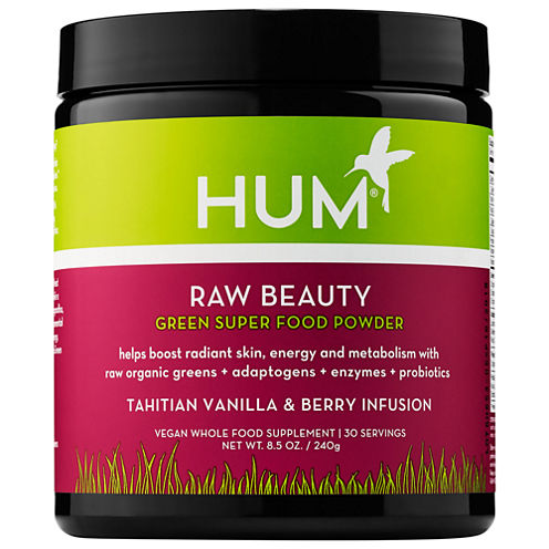 Hum Nutrition Raw Beauty Green Super Food Powder - Tahitian Vanilla & Berry Infusion