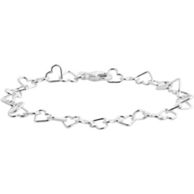 jcpenney.com | Made in Italy Polished Heart Ankle Bracelet Sterling Silver