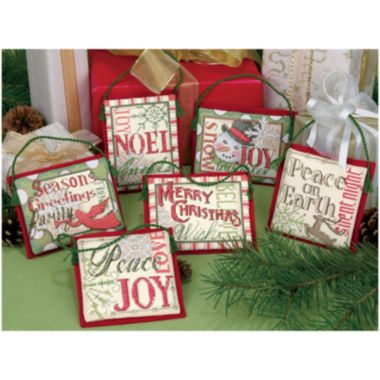 jcpenney.com | Counted Cross Stitch – Christmas Ornaments