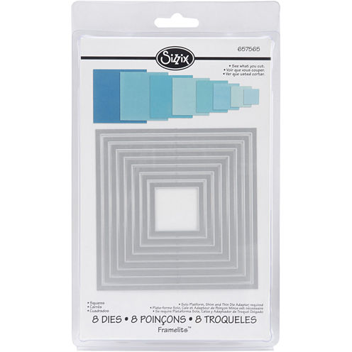 Sizzix® Framelits™ Squares 8-pc. Die Set