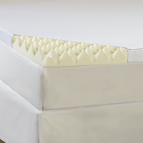 """Comforpedic from Beautyrest® Memory Loft 4"""" Foam Mattress Topper With Cover"""