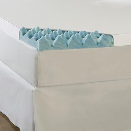 "Comforpedic from Beautyrest® Gel Memory Loft 4"" Foam Mattress Topper With Cover"
