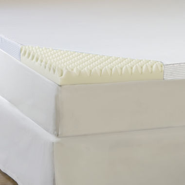 "jcpenney.com | Comforpedic from Beautyrest® 4"" Memory Foam Mattress Topper With Cover"