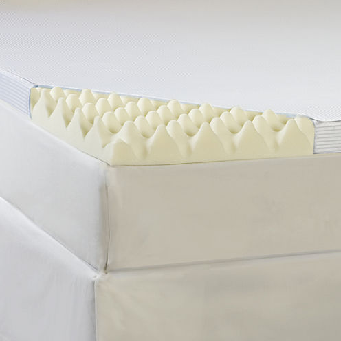 "Comforpedic from Beautyrest® Memory Loft 3"" Foam Mattress Topper With Cover"