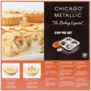 Chicago™ Metallic 4-Cavity Cup Pie Set