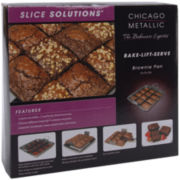 "Slice Solutions 9"" Brownie Pan with Divider"