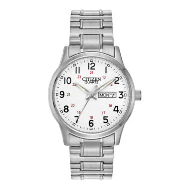 jcpenney.com | Citizen® Mens Easy Reader Silver-Tone Expansion Strap Watch BF0610-91A