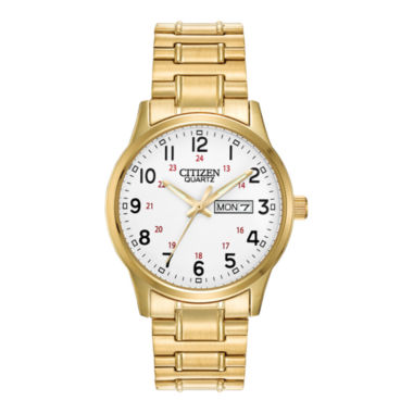 jcpenney.com | Citizen® Mens Gold-Tone Stainless Steel Expansion Strap Watch BF0612-95A