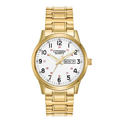 Citizen® Mens Gold-Tone Expansion Band Watch BF0612-95A