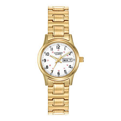 Citizen® Womens Gold-Tone Expansion Band Watch EQ0582-90A