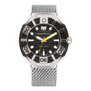TechnoMarine® Reef Mens Yellow & Black with Mesh Strap Watch