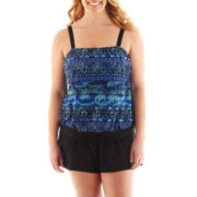 Delta Burke® Blouson Tankini Swim Top or Solid Shorts - Plus