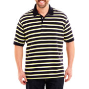 The Foundry Supply Co.™ Striped Piqué Polo Shirt-Big & Tall