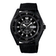 Casio® Mens Black Nylon Strap Watch