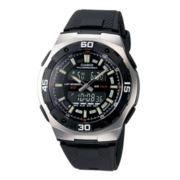 Casio® Active Dial Mens Black Resin Strap Analog/Digital Watch AQ164W-1AV