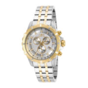 Invicta® Mens Gold-Tone Bezel Two-Tone Stainless Steel Chronograph Sport Watch