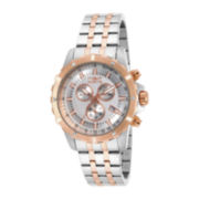 Invicta® Mens Rose-Tone Bezel Two-Tone Stainless Steel Chronograph Sport Watch