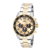Invicta® Mens Two-Tone Stainless Steel Chronograph Sport Watch