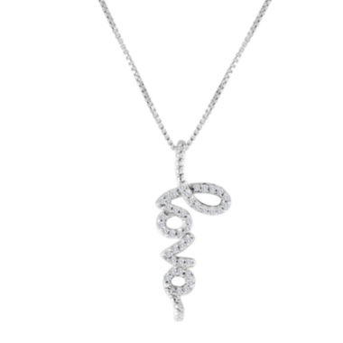 jcpenney.com | 1/10 CT. T.W. Diamond Sterling Silver Love Pendant Necklace