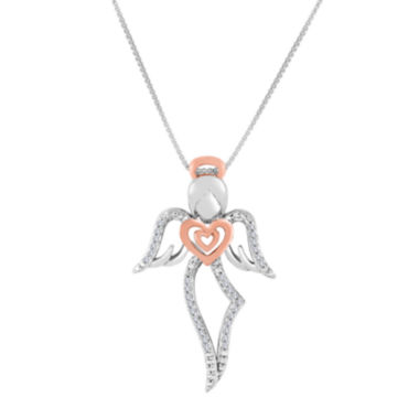 jcpenney.com | ForeverMine® 1/10 CT. T.W. Diamond Two-Tone Angel Pendant Necklace