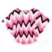 Total Girl® Chevron Lace Top - Girls 7-16 and Plus