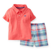 Carter's® Short-Sleeve Polo and Shorts Set – Boys 2t-5t