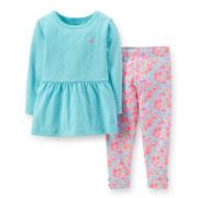 Carter's® Long-Sleeve Peplum Top and Leggings Set – Girls 2t-5t