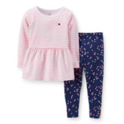Carter's® Long-Sleeve Peplum Top and Leggings Set – Girls 2t-5t