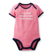 Carter's® Short-Sleeve Graphic Bodysuit – Girls newborn-24m