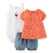 Carter's® Top, Bodysuit and Bubble Shorts Set - Girls newborn-24m