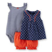 Carter's® Top, Bodysuit and Bubble Shorts Set – Girls newborn-24m
