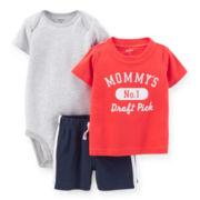 Carter's® Tee, Bodysuit and Shorts - Boys newborn-24m
