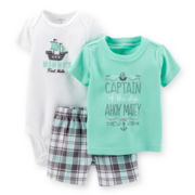Carter's® Tee, Bodysuit and Shorts - Boys newborn-24m