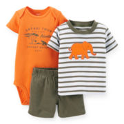 Carter's® Tee, Bodysuit and Shorts – Boys newborn-24m