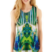 XOXO® Sleeveless Print Crepe Top
