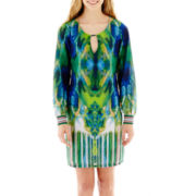 XOXO® Long-Sleeve Print Dress