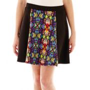 Olsenboye® Print Scuba Skater Skirt