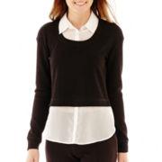 Olsenboye® Long-Sleeve Layered Top