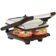 Bella™ Polished Stainless Steel Panini Grill